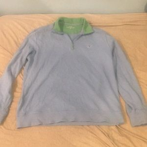 Vineyard vines blue quarter zip.
